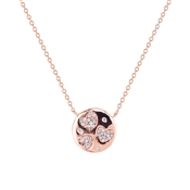 Argento Rose Gold Crystal Hearts Necklace