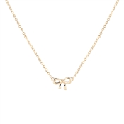 Argento Rose Gold Dainty Bow Necklace