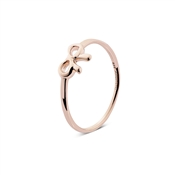 Argento Rose Gold Dainty Bow Ring