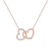 Argento Rose Gold Interlocking Hearts Necklace