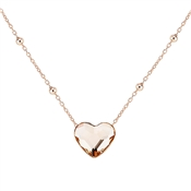 Argento Rose Gold Champagne Heart Necklace