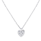 Argento Outlet Silver Shimmering Heart Necklace