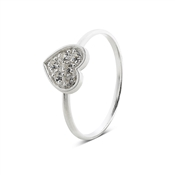 Argento Outlet Silver Shimmering Heart Ring