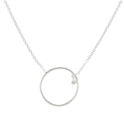 Argento Floating Stone Circle Necklace