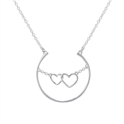 Argento Outlet Floating Hearts Necklace