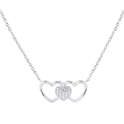 Argento Interlocking Trio of Hearts Necklace