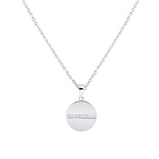 Argento High-Shine Silver Circle Necklace