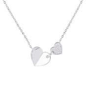 Argento Shimmering Crystal Hearts Necklace