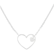 Argento Floating Heart Necklace