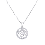 Argento Silver Arabesque Wish Necklace