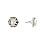 August Woods High Society Geometric Crystal Studs