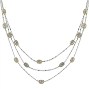 August Woods High Society Cascading Chains Necklace