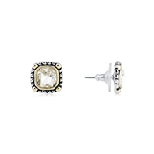 August Woods High Society Square Crystal Studs