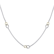 August Woods High Society Interlinking Hoops Necklace