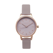 Olivia Burton Modern Vintage Grey Lilac & Rose Gold Midi Watch