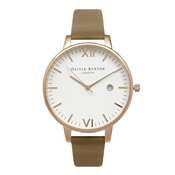 Olivia Burton Timeless Taupe & Gold Watch