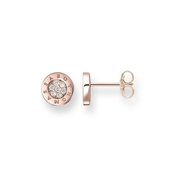 Thomas Sabo Classic Rose Gold Pave Round Stud Earrings