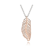 PANDORA Rose Feather Pendant