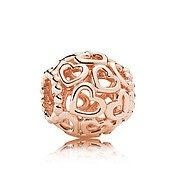 Rose Openwork Hearts Charm by Pandora