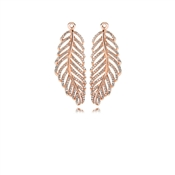 PANDORA Rose Feather Earring Pendants