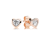 PANDORA Rose Heart Stud Earrings