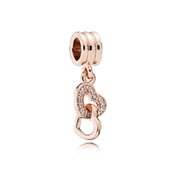 Pandora Rose Interlocked Hearts Drop Charm