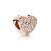 PANDORA Rose Sweetheart Charm