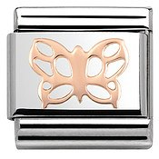 Rose Gold Butterfly Charm by Nomination