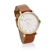Marc by Marc Jacobs Baker Tan Leather Gold Watch