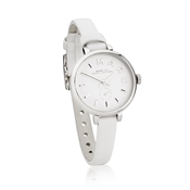 Marc by Marc Jacobs Sally White Dial White Leather Watch