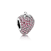 PANDORA Pavé Strawberry Charm