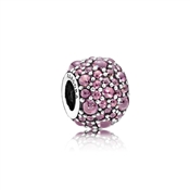 PANDORA Honeysuckle Pink Shimmering Droplets Charm