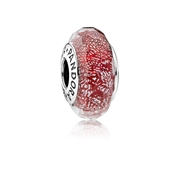 PANDORA Red Glitter Glass Charm
