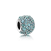 PANDORA Teal Shimmering Droplets Charm