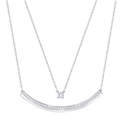 Swarovski Fresh Rhodium Necklace