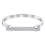 Swarovski Friend Rhodium Bangle
