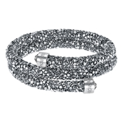 Swarovski Crystaldust Double Grey Bangle