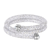 Swarovski Crystaldust White Double Bangle (M)