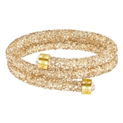 Swarovski Crystaldust Golden Double Bangle (M)