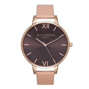 Olivia Burton Brown Dial Dusty Pink Watch