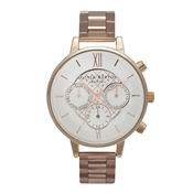 Olivia Burton Chronograph Dot Rose Gold Bracelet Watch