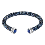 Swarovski Crystaldust Blue Cuff Bangle