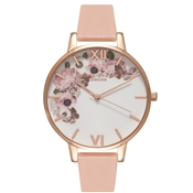 Olivia Burton Enchanted Garden Dusty Pink & Rose Gold Floral Watch