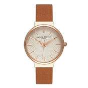 Olivia Burton Hackney Tan & Rose Gold Watch