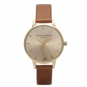 Olivia Burton Midi Dial Tan & Gold Watch