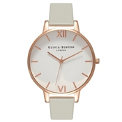 Olivia Burton White Dial Grey & Rose Gold Watch