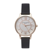 Olivia Burton Wonderland Black & Rose Gold Watch