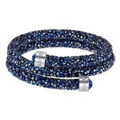 Swarovski Crystaldust Double Blue Bangle