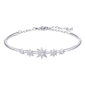 Swarovski Fizzy Rhodium Bangle