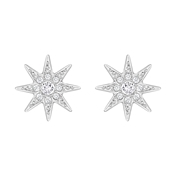 Swarovski Fizzy Rhodium Earrings